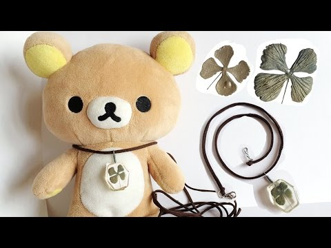 How To : Polymer Clay Clover Leaf Resin Necklace