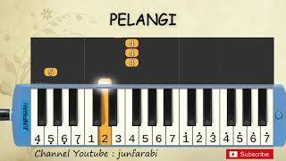 not pianika pelangi - tutorial belajar pianika lagu anak - not angka pelangi