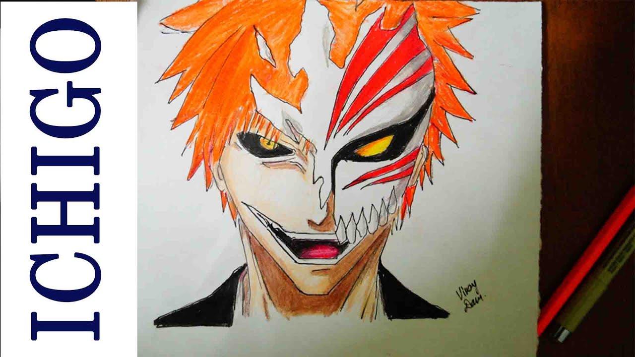 Speed Drawing Ichigo Kurosaki (Semi Hollow) Bleach