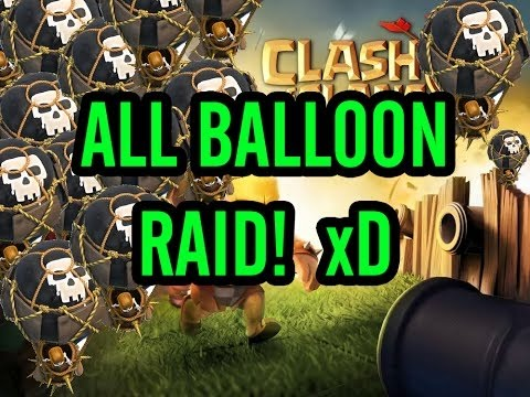 Clash Of Clans New Private Server | MASS BALLOONS ATTACK | Testing Max Level 7 All Balloons Raid!