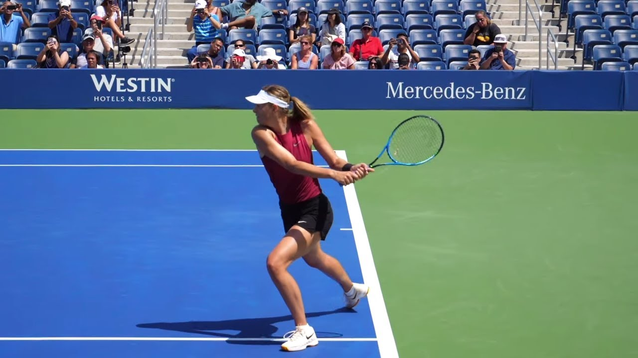 Maria Sharapova Slow Motion Practice Match WTA Tennis Forehand, Backhand, Serve, Return Compilation