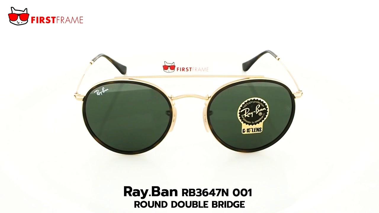 RayBan RB3647N 001 ROUND DOUBLE BRIDGE - YouTube e122db1999
