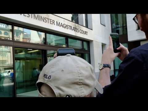 Jonathan King leaves Westminster Magistrates Court