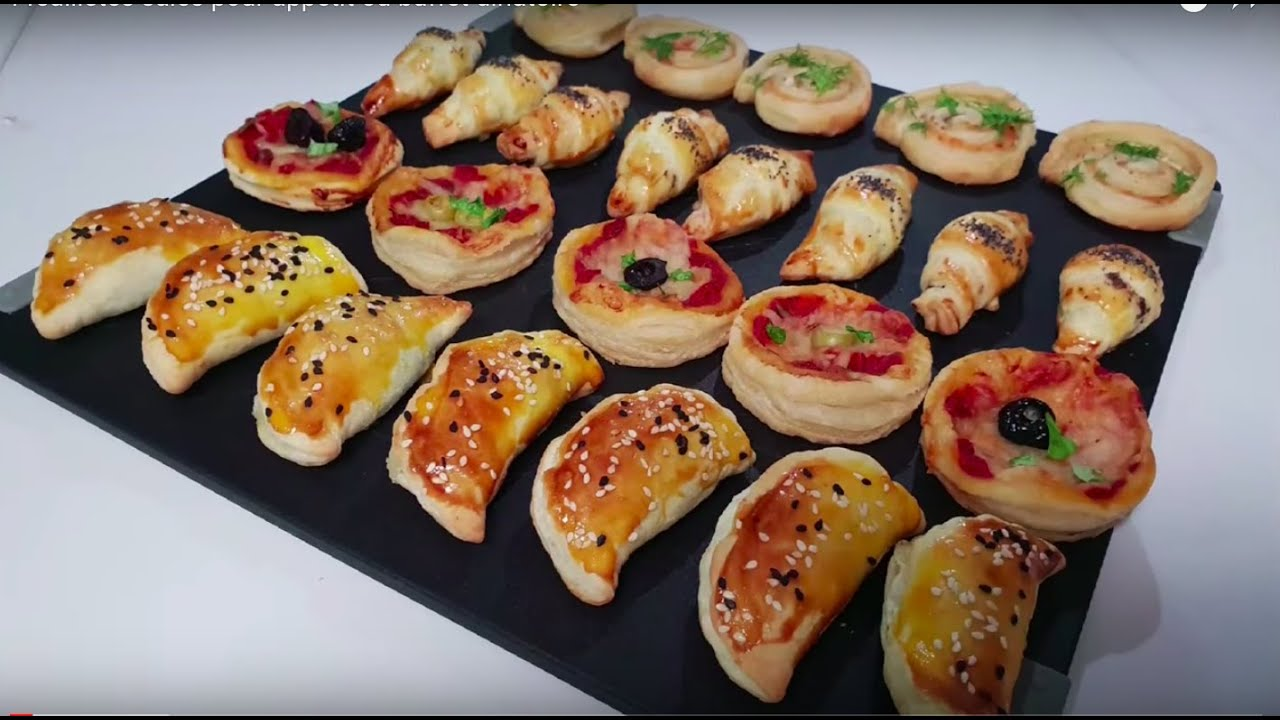 4 feuilletes sales pour aperitifs ou buffet dinatoire ممللحات بالعربية