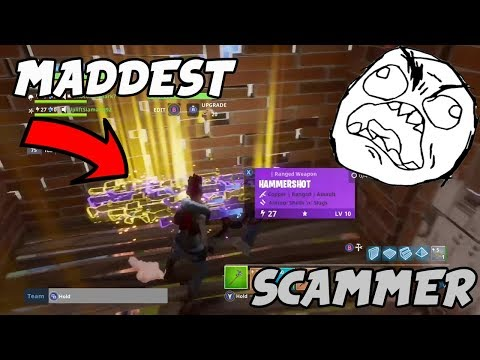 MADDEST Scammer gets Scammed in fortnite save the world pve