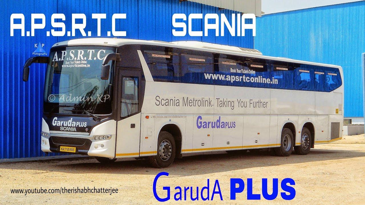 Scania Apsrtc Garuda Plus Bus New Hd Youtube