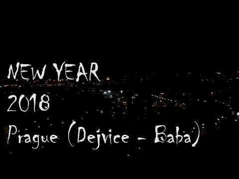 Happy New Year 2018, Prague view to City celebration