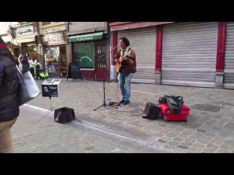 Street performer in Brussels Belgium 4k Video