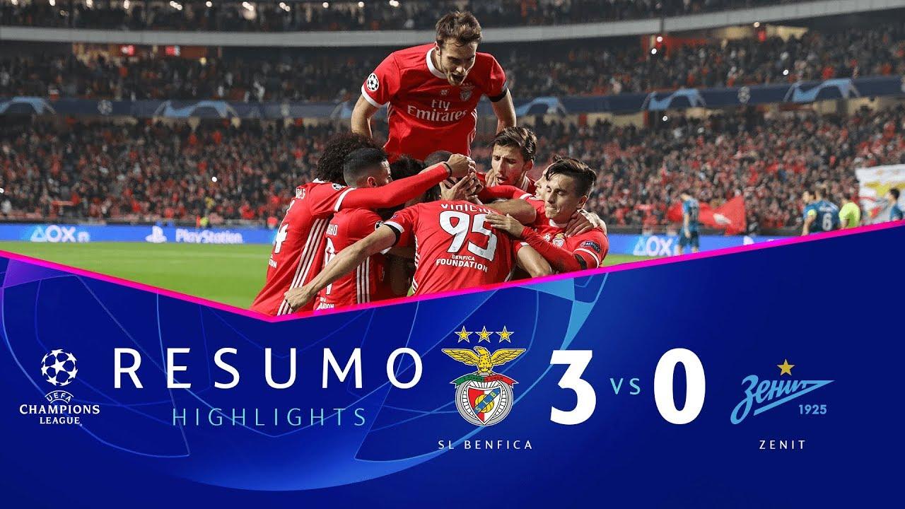 Highlights Sl Benfica 3 0 Zenit Youtube