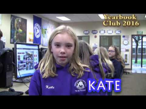 Poinsettia Elem Yearbook Club 2016 - YouTube