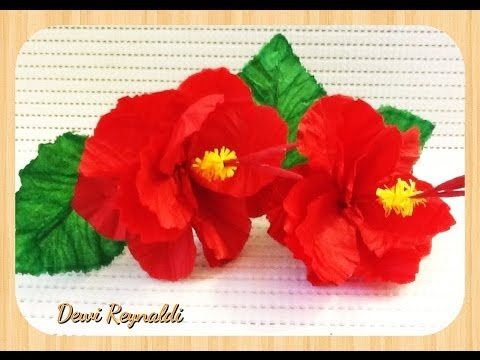 Diy How To Make Hibiscus Paper Flower For Room Gift Box