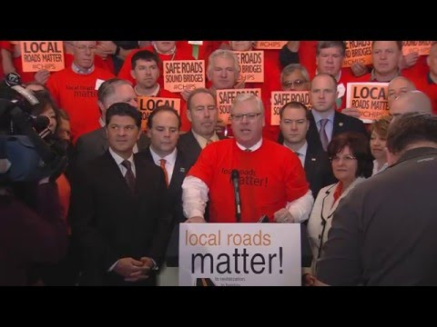 State legislators and local highway superintendents deliver message: Local Roads Matter