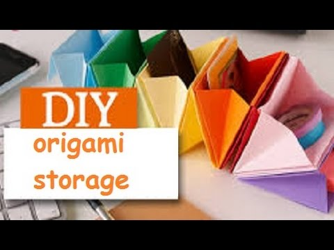 Diy Origami Desk Organizer Youtube