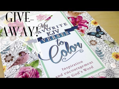 Giveaway: KJV Bible Coloring Book