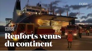 Pour lutter contre les incendies en Corse, des pompiers  du Gard arrivent en renfort