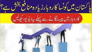 Which Business is More Profitable in Pakistan?