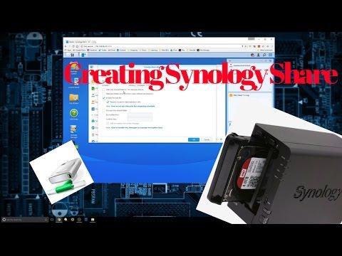 Creating a Synology Shared Folder