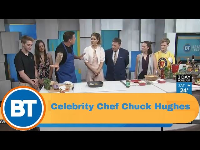 Celebrity Chef Chuck Hughes grills up Fathers Day sides