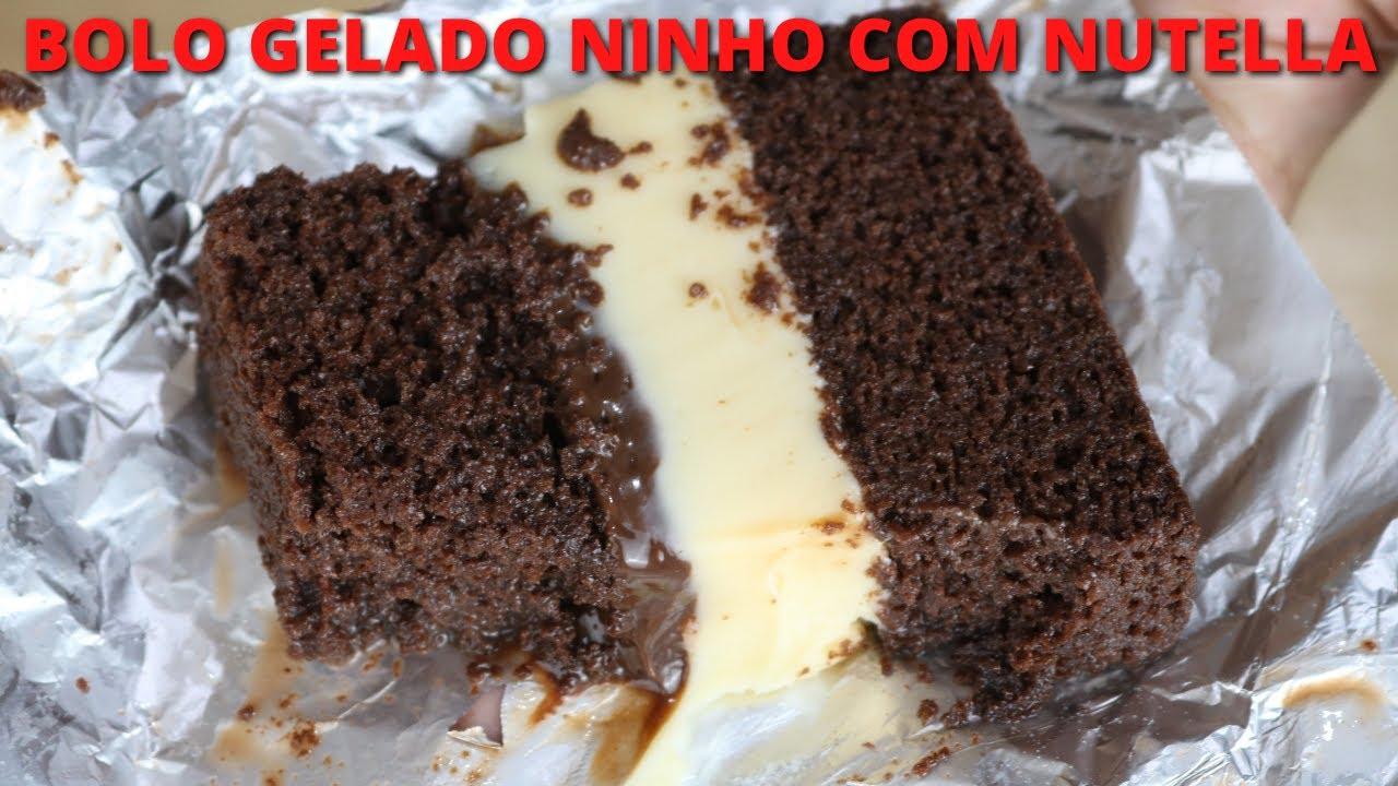 BOLO GELADO NINHO CREMOSO COM NUTELLA - FAÇA E VENDA BOLO GELADO NINHO COM NUTELLA   Bru na Cozinha