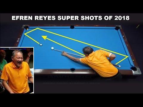 "Efren ""Bata"" Reyes 2018 Super Shots Compilation !!! 8-ball, 9-ball Pool"