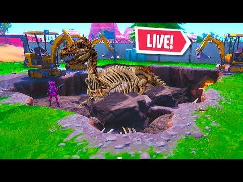 new dinosaur bones in dusty divot right now live event fortnite battle royale - fortnite season 8 3 dinosaurier