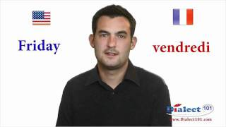 How to speak French - Days of the week