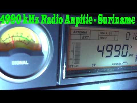 4990 kHz Radio Apintie relay 97.1 MHz  , Paramaribo , Suriname