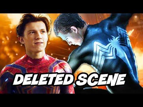Avengers Infinity War Spider-Man Black Suit Deleted Scene Explained