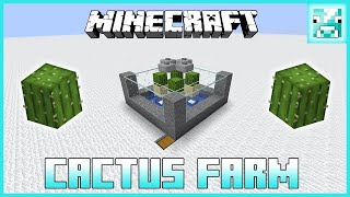 Minecraft: Automatic CACTUS FARM Tutorial