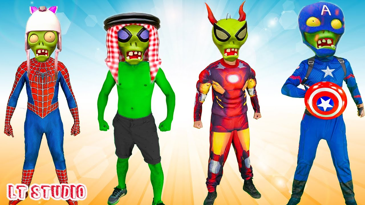 LT Studio: Patrol X Warriors Nerf Guns Fight Criminal Group Wrong Heads & Plants and Zombies
