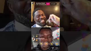 Kevin Hart goes live on IG with his wife and Michael dapaah