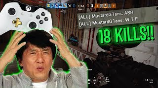 XBOX PLAYER DESTROYS PC RANKED - Rainbow Six Siege (Operation Grim Sky)