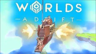 SKY BATTLE: Giant Battleship vs Mechanical Spider | Worlds Adrift Closed BETA Gameplay (PC)