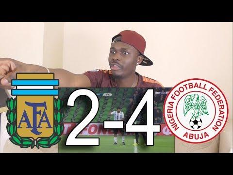 Argentina VS Nigeria 2-4 All Goals Highlights: Reaction