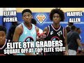 ELITE 8TH GRADERS Elijah Fisher & Marvel Allen BATTLE!! | #1 Canadian vs #1 FL Guard at TopElite150