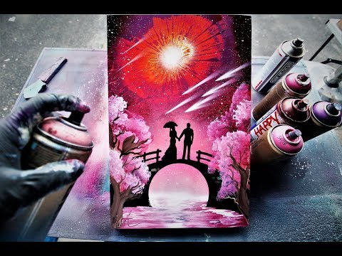 Love Bridge SPRAY PAINT ART By Skech  - GLOW IN THE DARK -