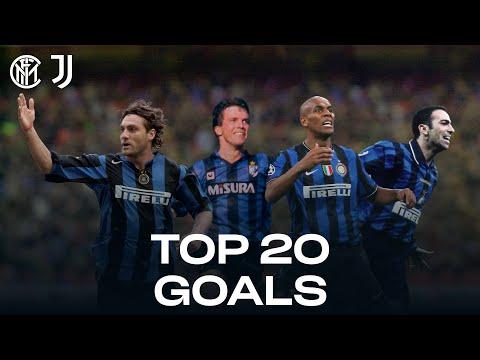 INTER vs JUVENTUS | TOP 20 GOALS | Maicon, Vieri, Adriano, Djorkaeff, Matthaus... and more! 🔥⚫🔵