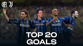 INTER vs JUVENTUS | TOP 20 GOALS | Maicon, Vieri, Adriano, Djorkaeff, Matthaus... and more! 🔥⚫🔵