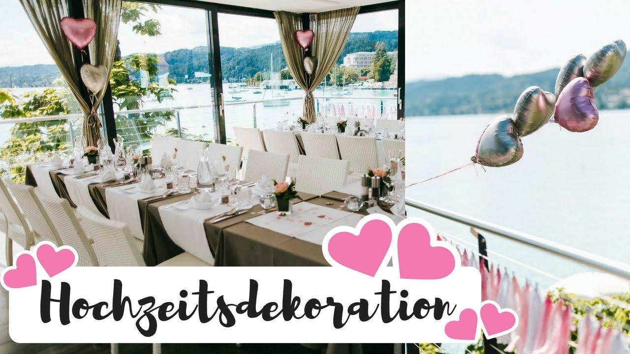 Dekoration Fur Unsere Rosa Hochzeit Am See I Annabirdie Youtube