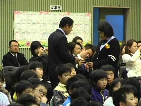 阿蘇市立碧水小学校で最後の卒業...