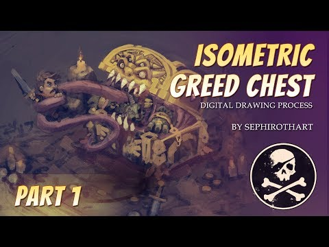 Isometric Greed Chest Diablo Fanart PART1. Drawing Process | by Sephiroth Art