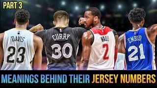 Meanings Behind Jersey Numbers Of Nba Superstars! Curry, Wall, Davis & More! Part 3