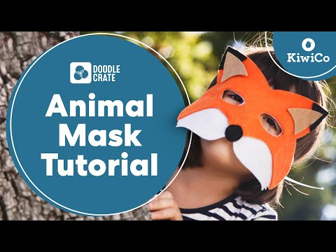 Decorative Animal Masks Tutorial - Doodle Crate Project