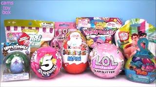 Kinder Maxi LOL 5 Surprise Dolls GLAM Glitter TOYS Opening Kids Fun Trolls Pod Pals