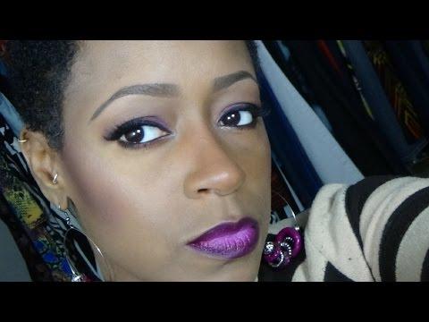 grwm-monochromatic-makeup-look-in-purple!!