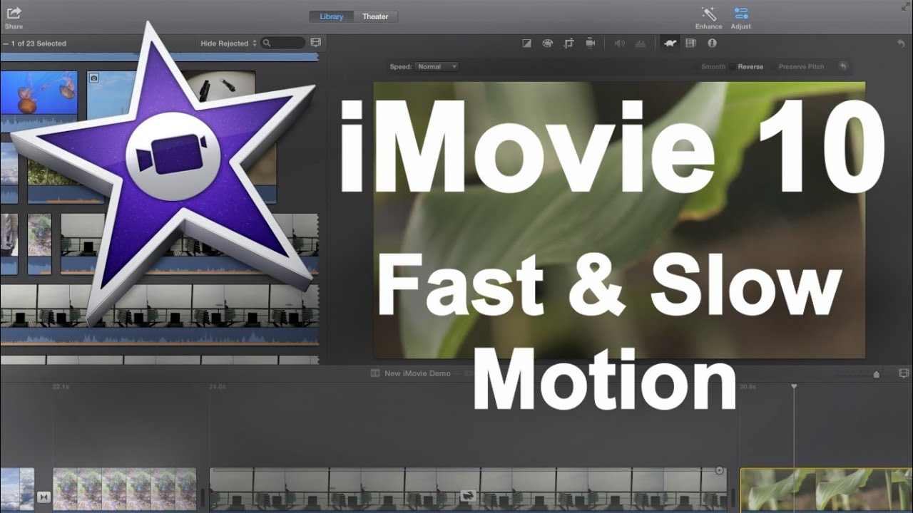 how to use slow motion on imovie