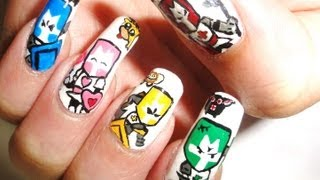 How to draw Castle Crashers nail art