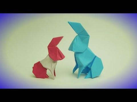 Origami Kelinci Yang Terbuat Dari Kertas