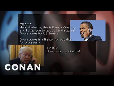 Trump Crashes Obama's Doug Jones Robocall  - CONAN on TBS