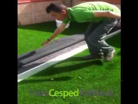 Instalacion de cesped artificial sobre terreno natural - Colocar cesped artificial sobre terreno natural ...